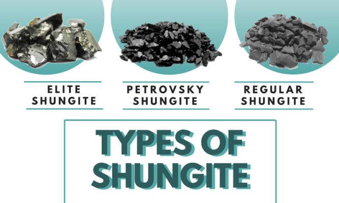 أنواع shungite